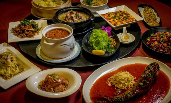 An assortment of Sichuan cuisine