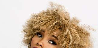 the aging process - Beautiful lady with young looking features and natural hair