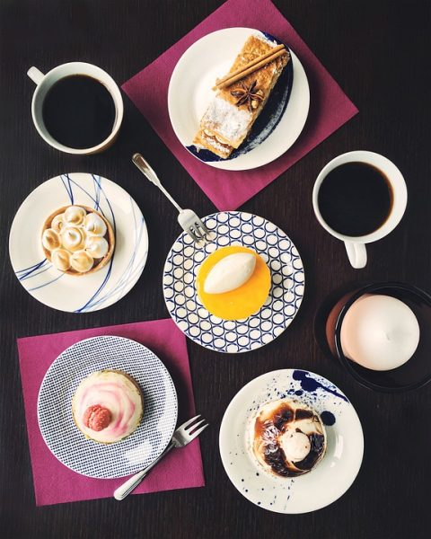 Worst foods for Women Cake Americano Table Coffee Dessert On The Table