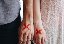 Dating wrong girl Red X Marked X Couple Stamped Stigma Hands