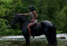 What do couples do in the wilderness - go horseback riding