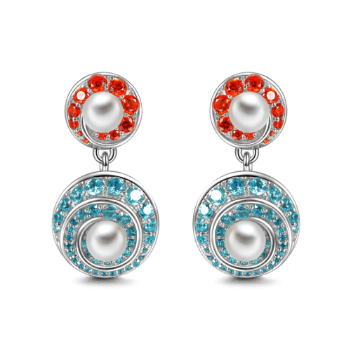 Soufeel Whirlpool Pearl Earrings 925 Sterling Silver - Gift Quality Fashion Jewelry if You Can't Afford Diamonds