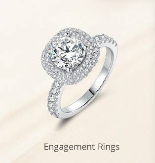 Pure Love Engagement Wedding Ring 925 Sterling Silver