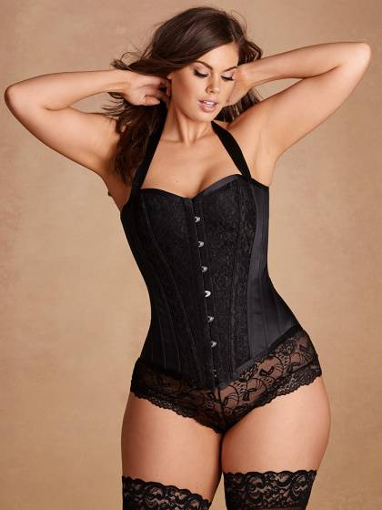 Justine Steel Boned Corset With Halter Straps Lingerie and Intimates