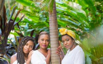 3 black women standing by tree photo by Jackie Parker-