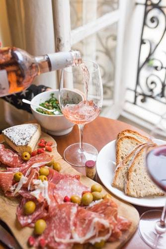 wine and food How to Plan a Romantic Date At Home for Him