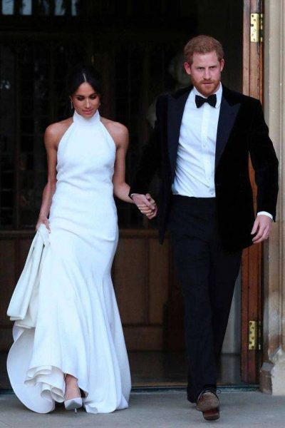 Silk High Neck Evening Gown meghan 400x600 - Meghan Markle's Royal Fashion Style