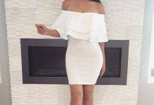 off shoulder dress short