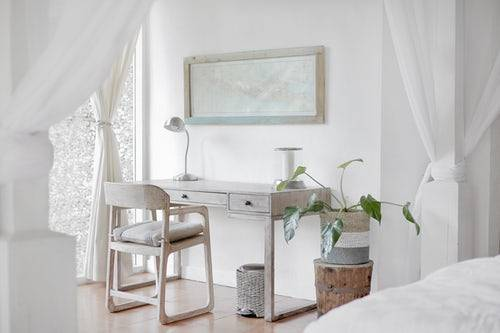 bedroom white walls plant photo 1519974719765 e6559eac2575 - Redecorate With Timber Look Tiles That Look Like Real Wood