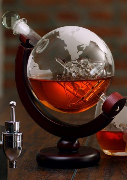 Super 6 Affordable Gifts for Whiskey Lovers Globe decanter holding darking liquor