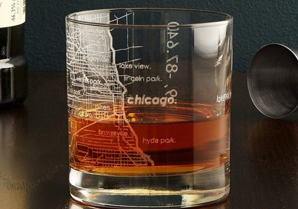Super 6 Affordable Gifts for Whiskey Lovers whiskey gift sets, city map glass