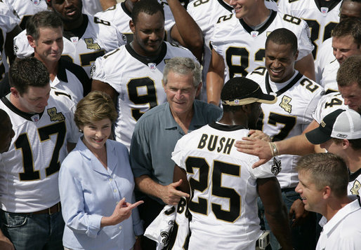 saints with the Bushs - Why Muslims Travel to New Orleans, Louisiana
