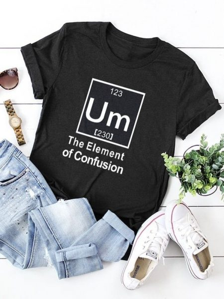 Shein plus slogan print cuffed tee 450x600 - 7 Comfortable and Casual Spring Outfit Ideas You Must Try