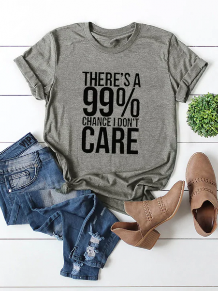 Shein statement t i dont care 451x600 - 7 Comfortable and Casual Spring Outfit Ideas You Must Try