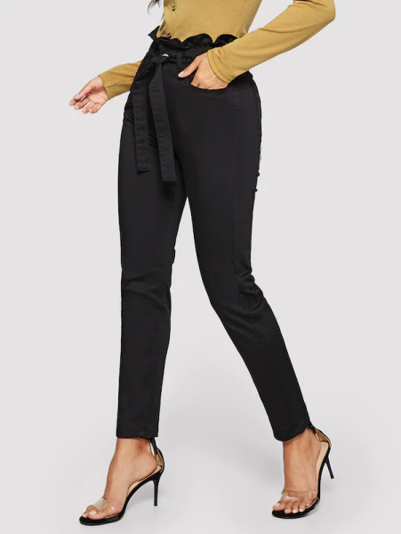 shein black skinny jeans nude heels 451x600 - 7 Comfortable and Casual Spring Outfit Ideas You Must Try