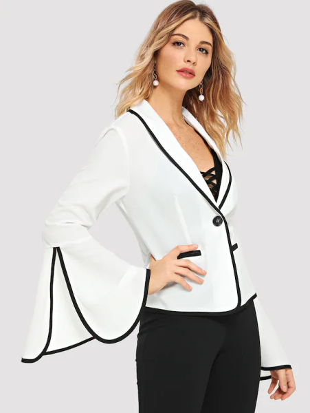shein white blazer black pants 451x600 - 7 Comfortable and Casual Spring Outfit Ideas You Must Try