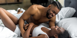 Experts Say There's No Such Thing as Too Much Sex black couple playing in bed