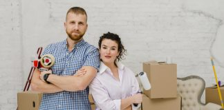 4 Ideas On How Couples Can Have A Cozy Place Before Moving couple-posing-with-renovation-tools_23-2147758701