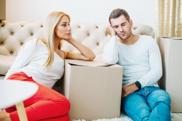 4 Ideas On How Couples Can Have A Cozy Place Before Moving tired-removing-couple-boxes_23-2147694325