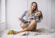 single mom mothers day concept with joyful mother daughter 23 2147776605 min